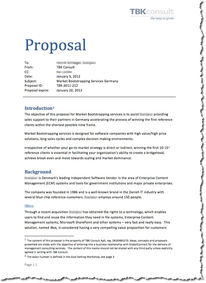 writing proposal